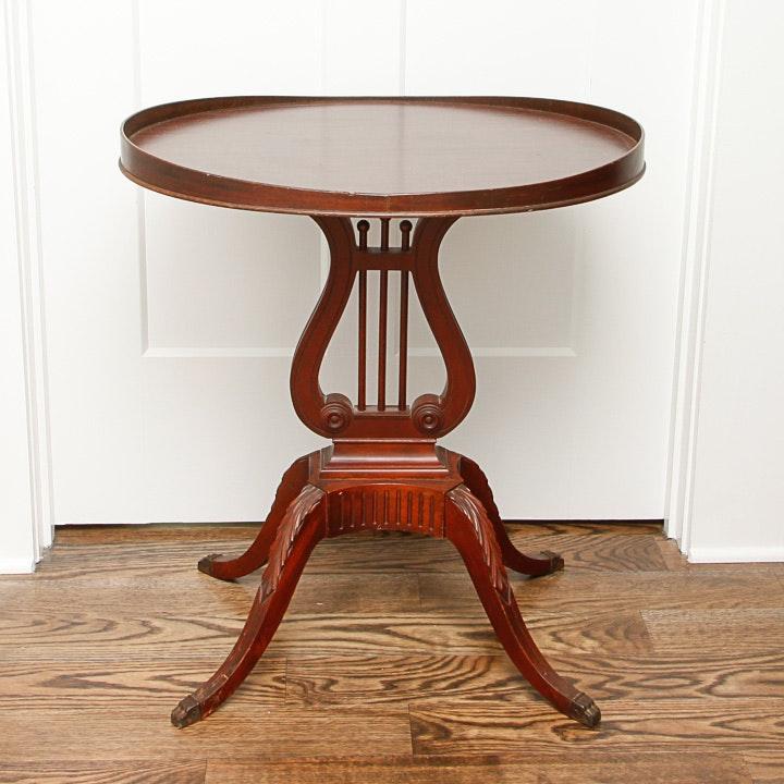 Regency Style Lyre Side Table by Mersman