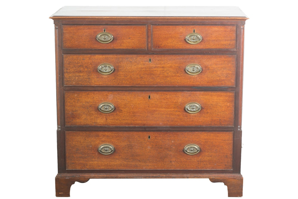 Antique Late George III Mahogany Chest of Drawers, Circa 1820