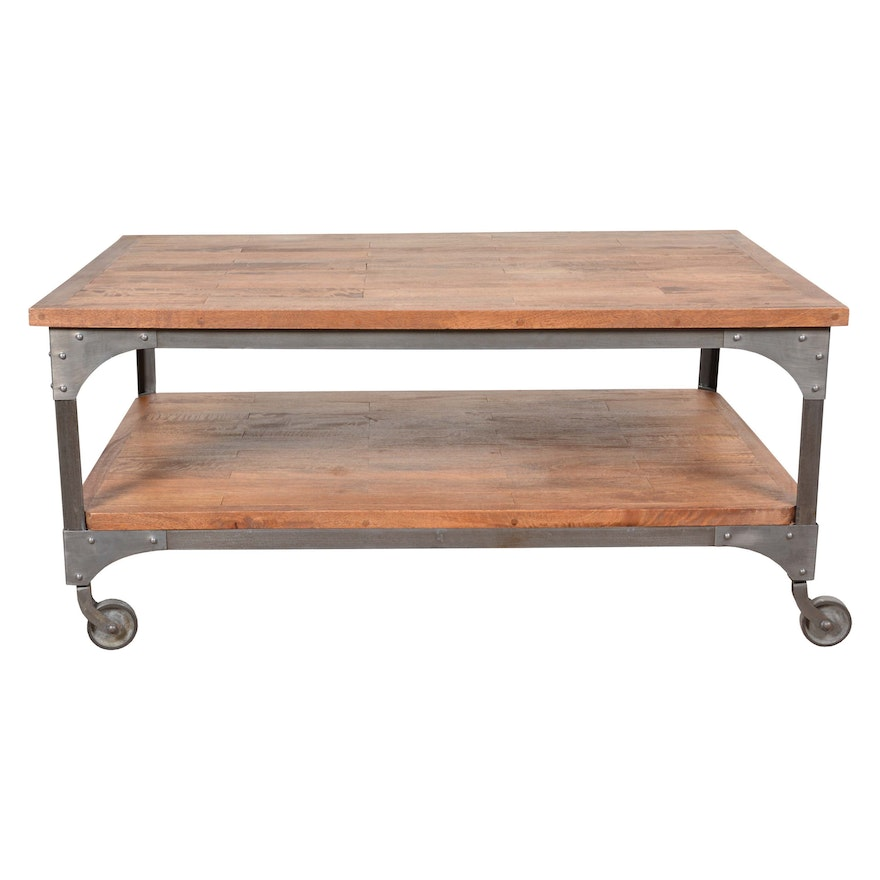 Industrial Style Coffee Table Ebth