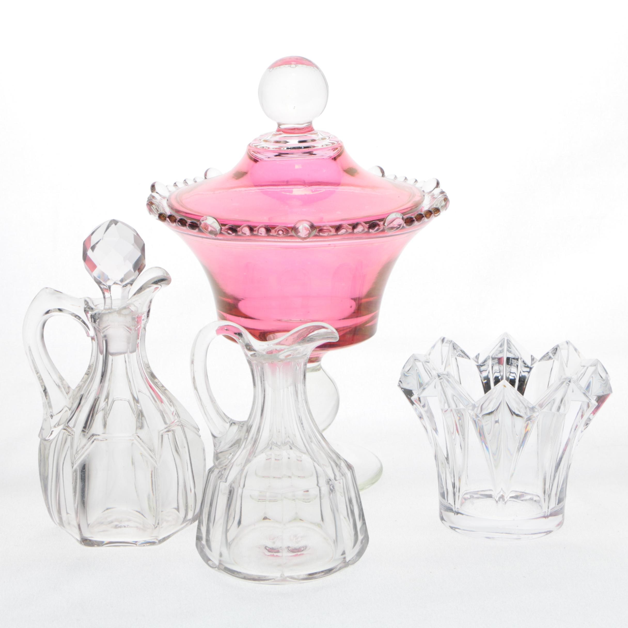 Serveware Including Crystal Candy Dish