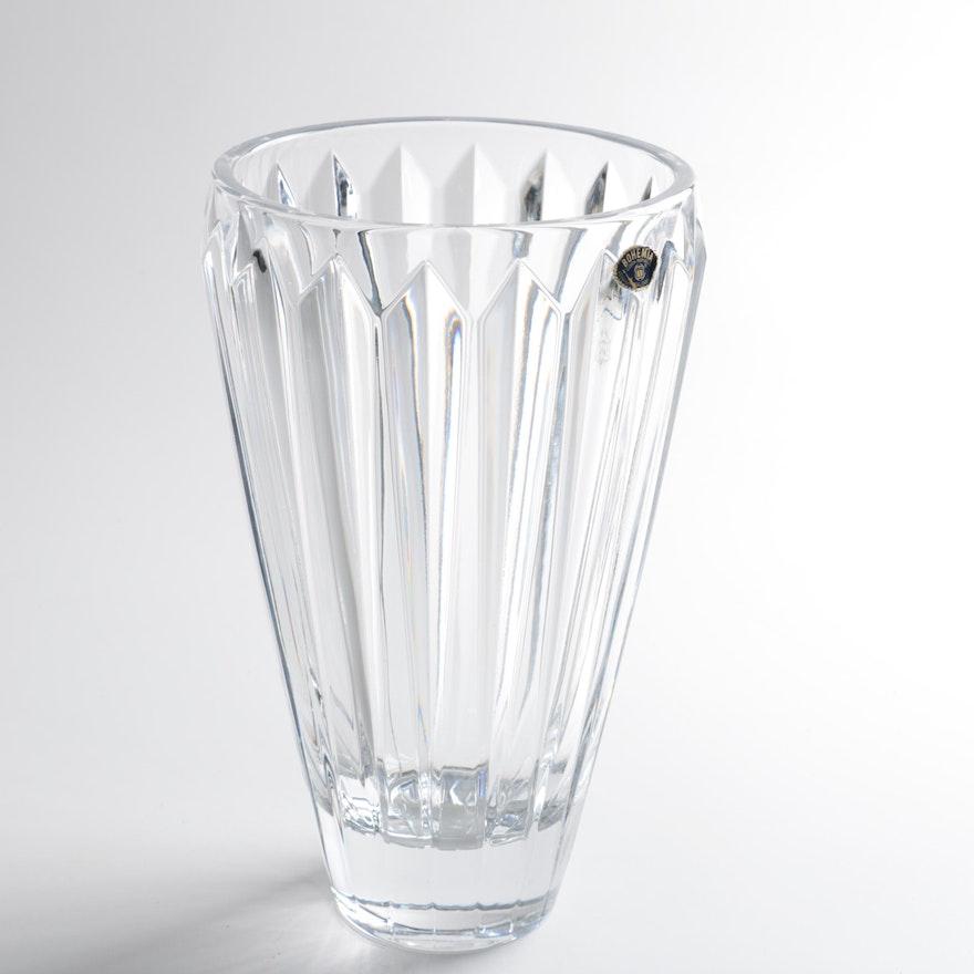 Bohemia Lead Crystal Vase Ebth