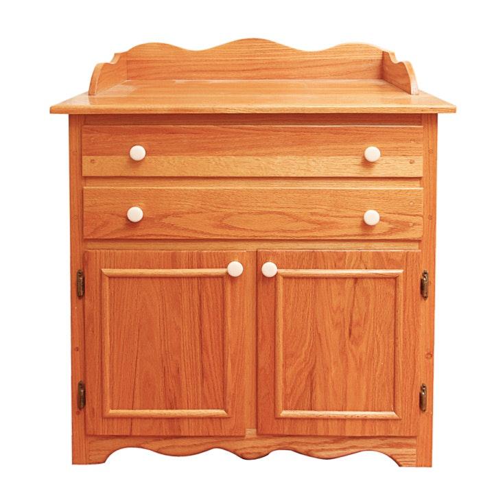 Traditional Style Oak Buffet Cabinet
