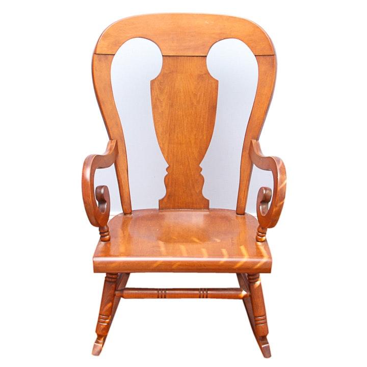 Vintage Scroll Arm Rocking Chair