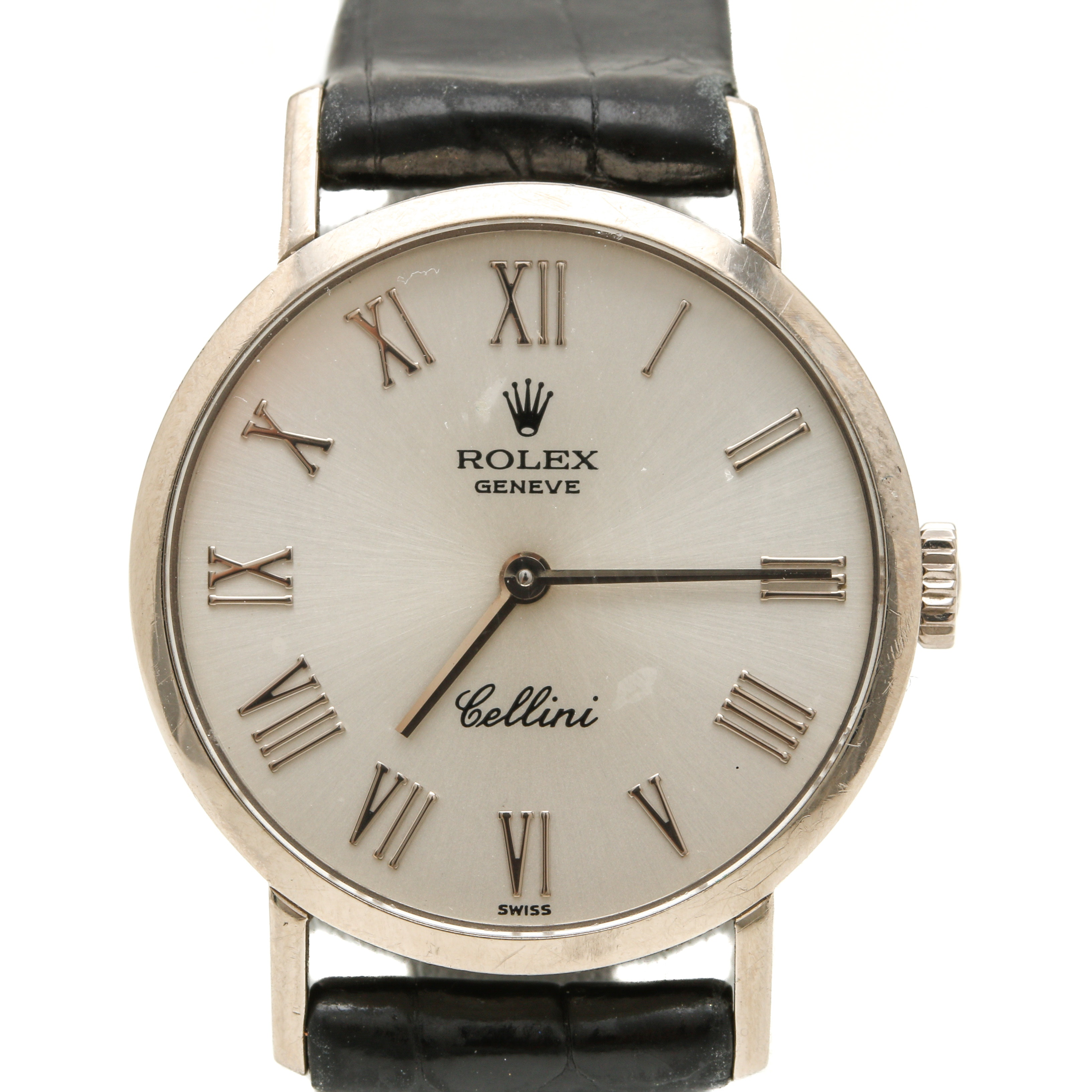 "Rolex Geneve 18K White Gold ""Cellini"" Wristwatch"