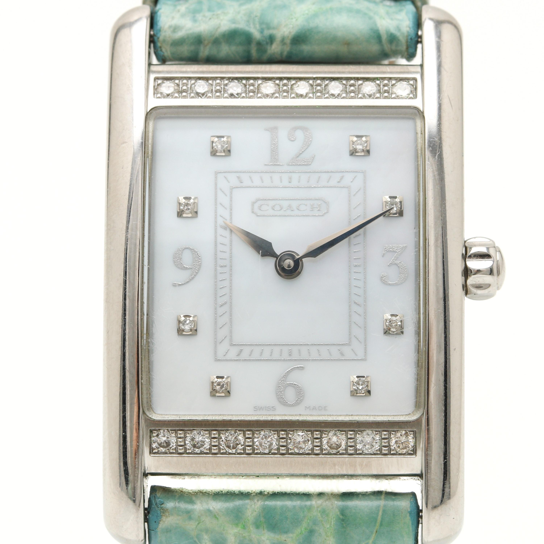 Coach Stainless Steel Diamond Wristwatch