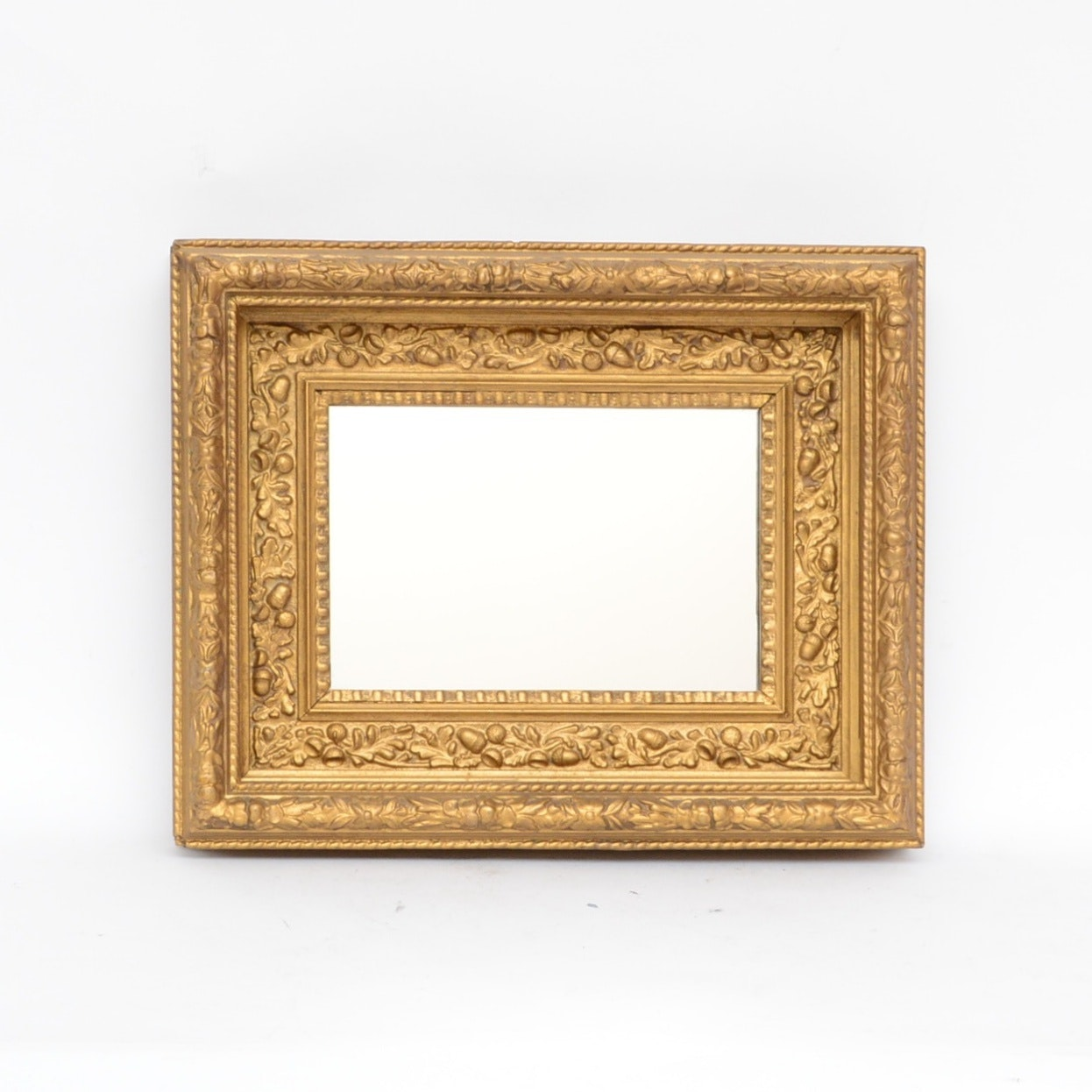 Wood and Gesso Wall Mirror