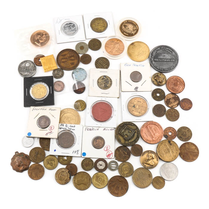Vintage and Antique Tokens and Medallions