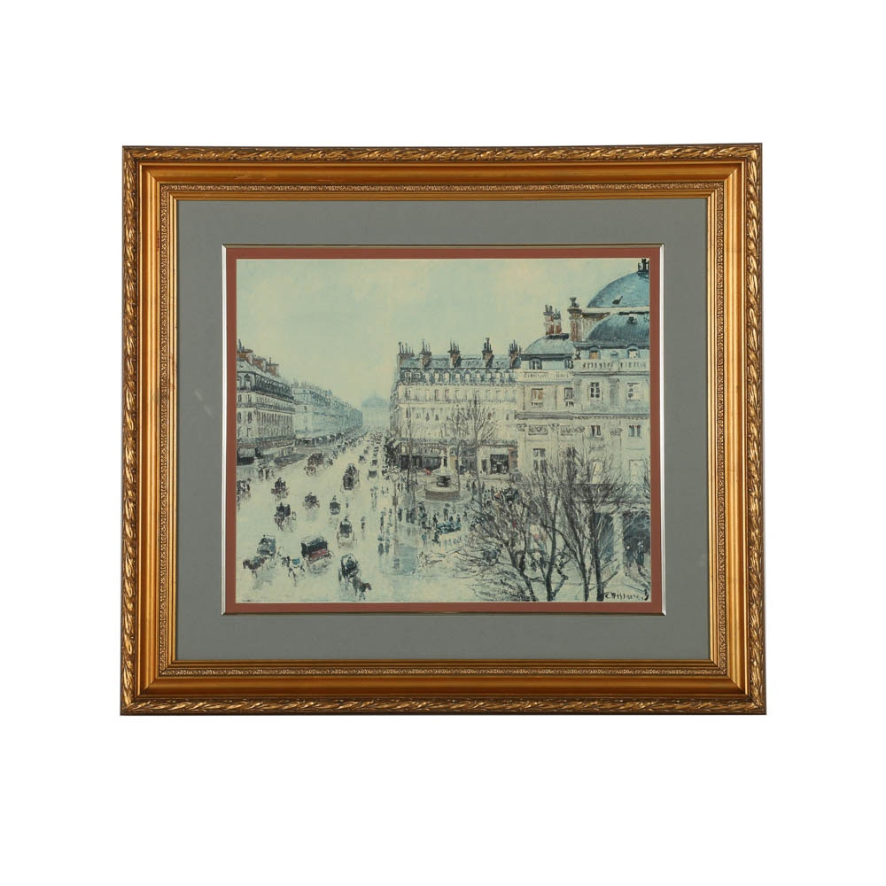 Offset Lithograph Print After Camille Pissarro
