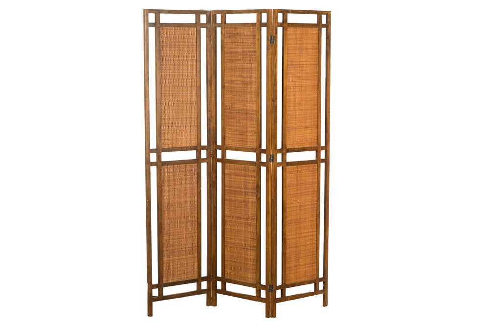 3-Panel Woven Room Divider