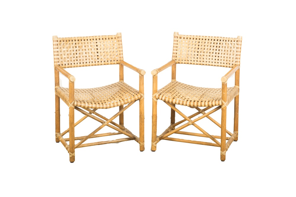 Pair of Bamboo Director Style Chairs
