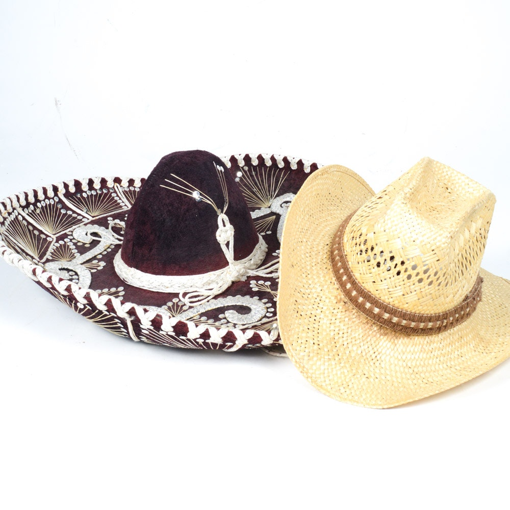 Resistol Stagecoach Cowboy Hat and Pigalle Sombrero