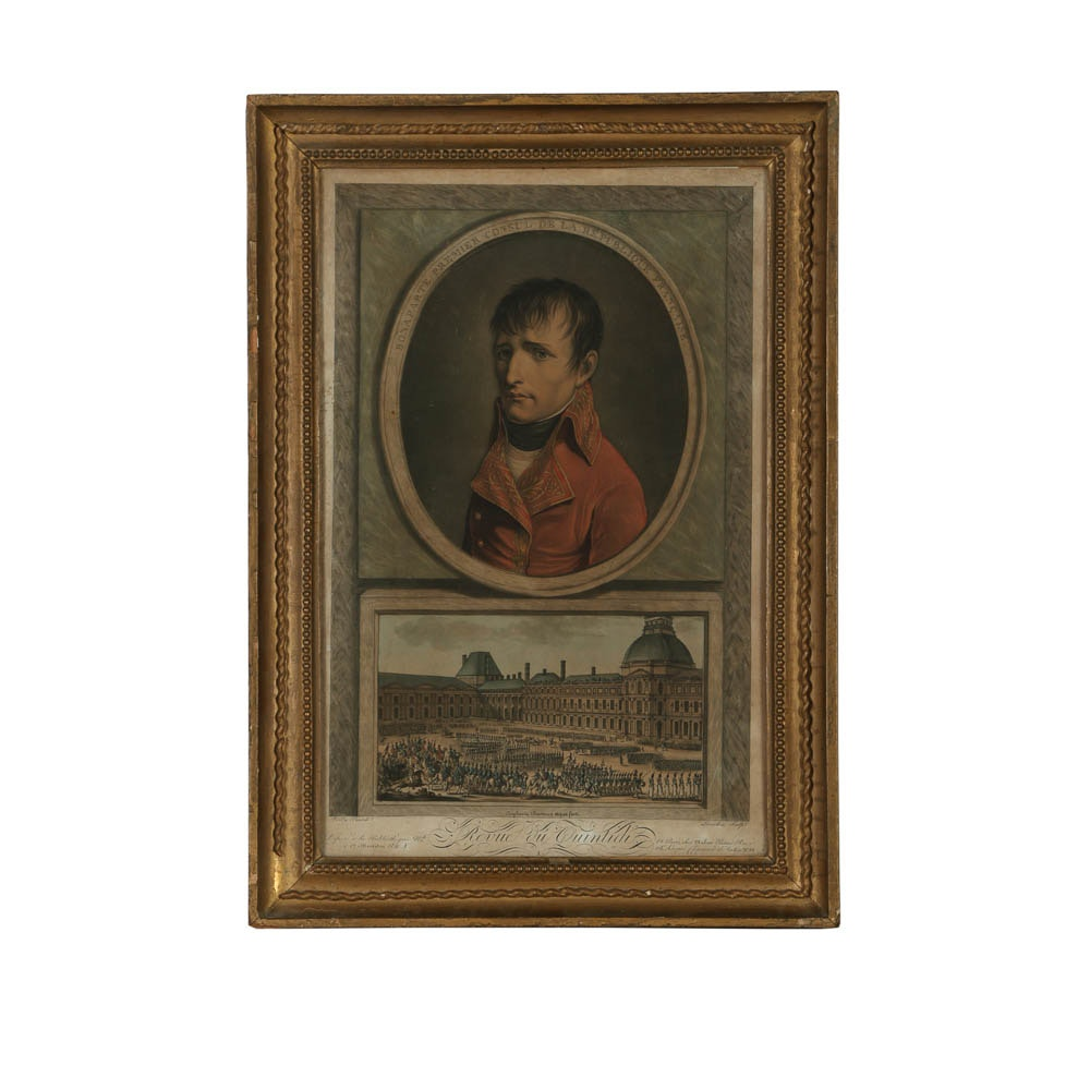 """Intaglio After Louis Léopold Boilly """"Portrait of Napoleon as First Consul"""""""