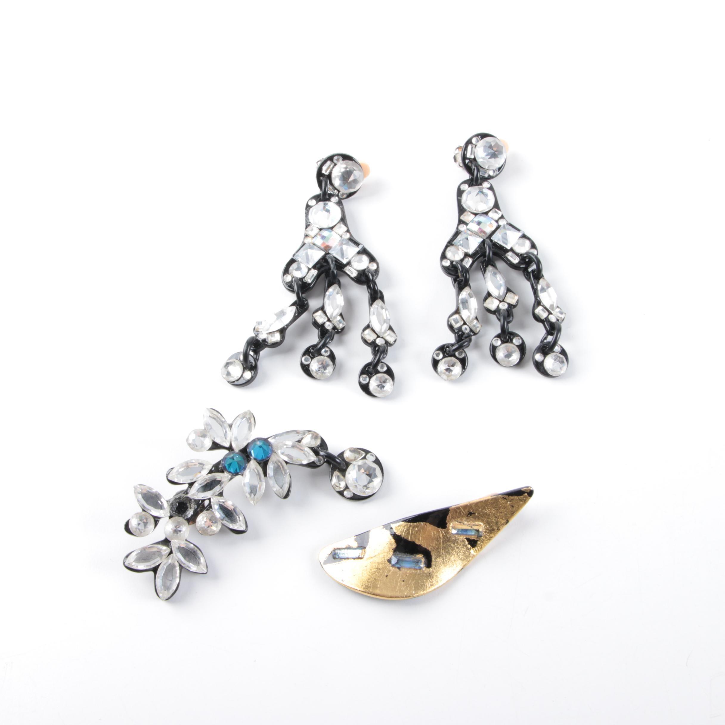 Vintage Bill Schiffer Jewelry With Swarovski Crystals