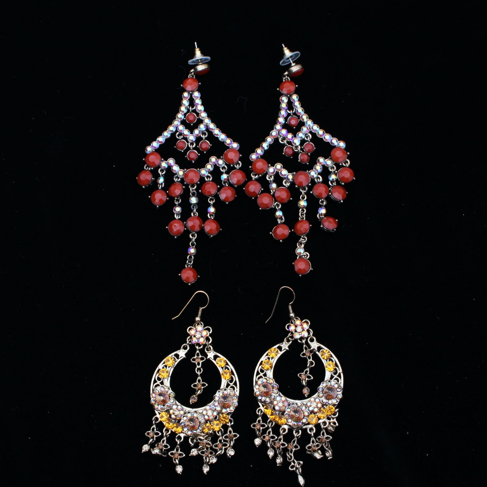 Two Pairs of East Indian Style Earrings