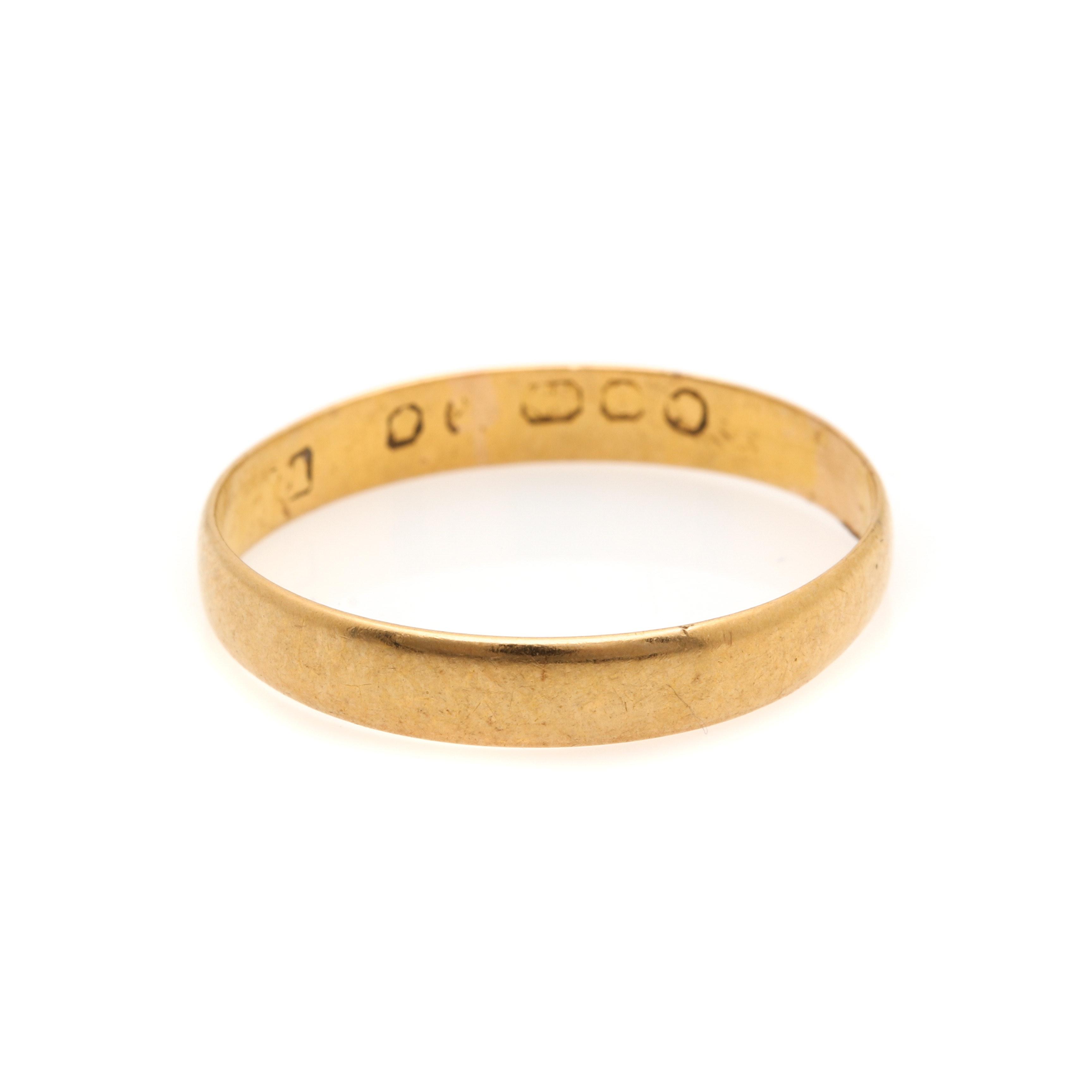 22K Yellow Gold Ring Band