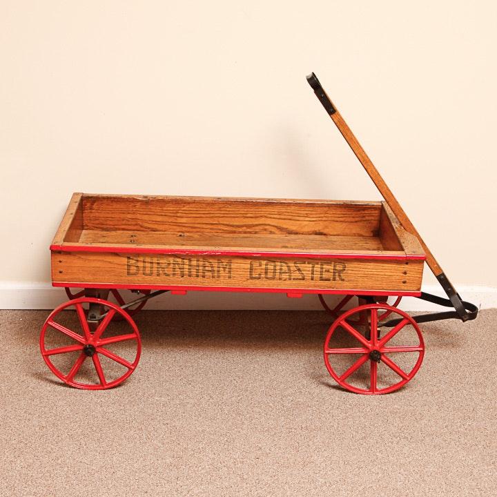 "Antique ""Burnham Coaster"" Toy Wagon"