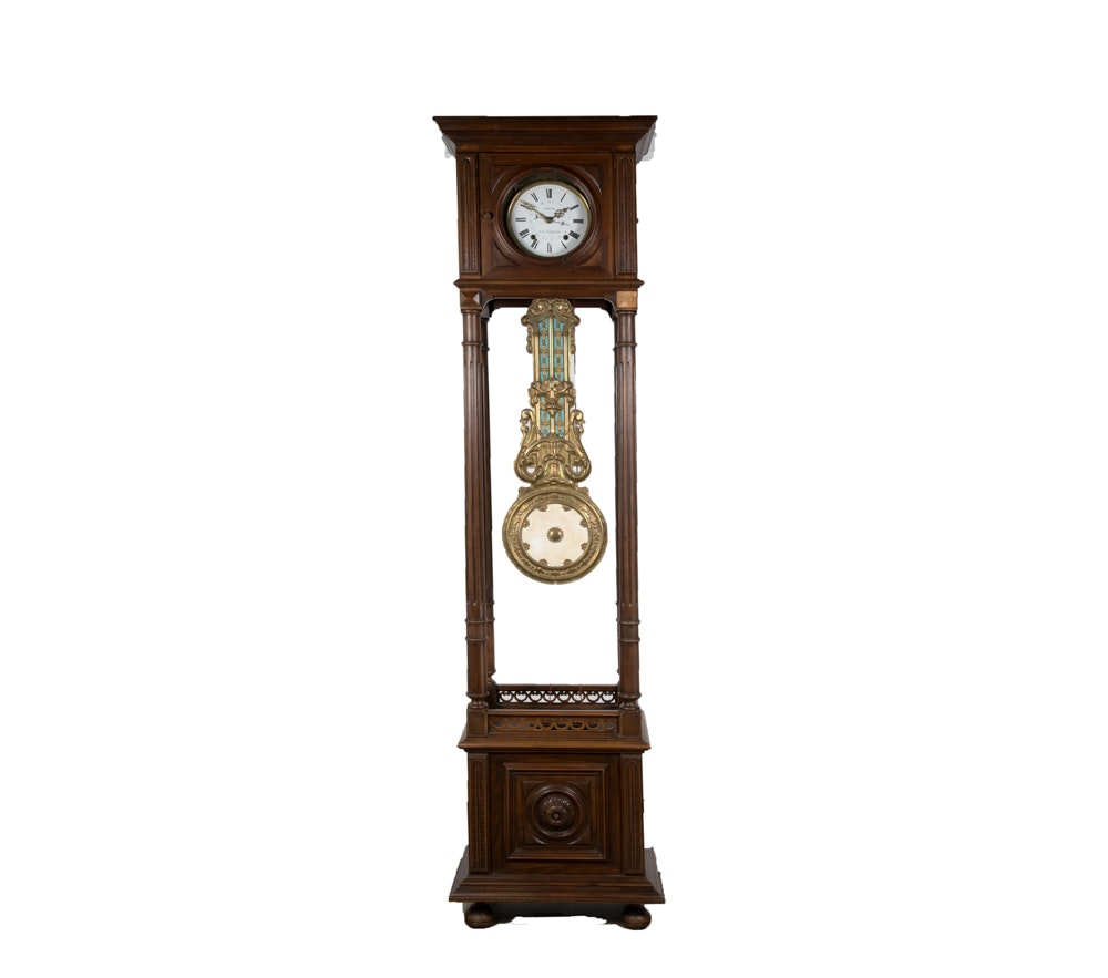Vintage French Tall-Case Clock by Coutand