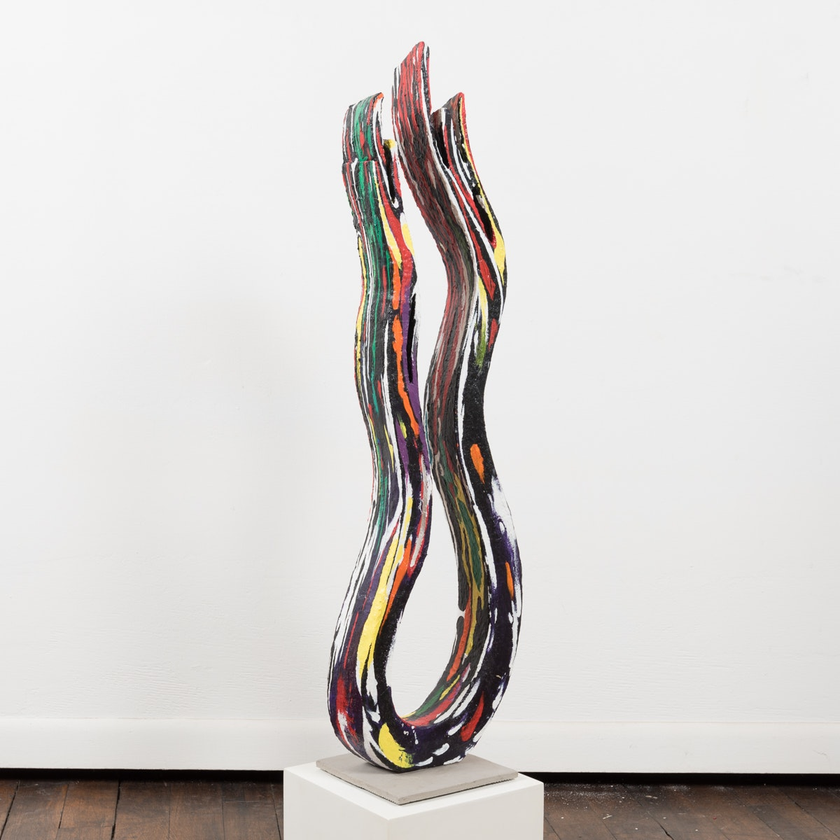 "Bill Schiffer Plaster Sculpture ""Flame"""
