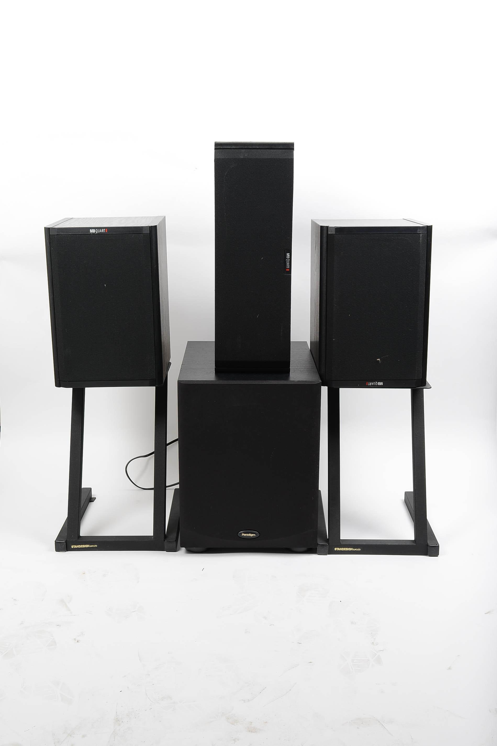 MB Quart Speakers and Paradigm Subwoofer
