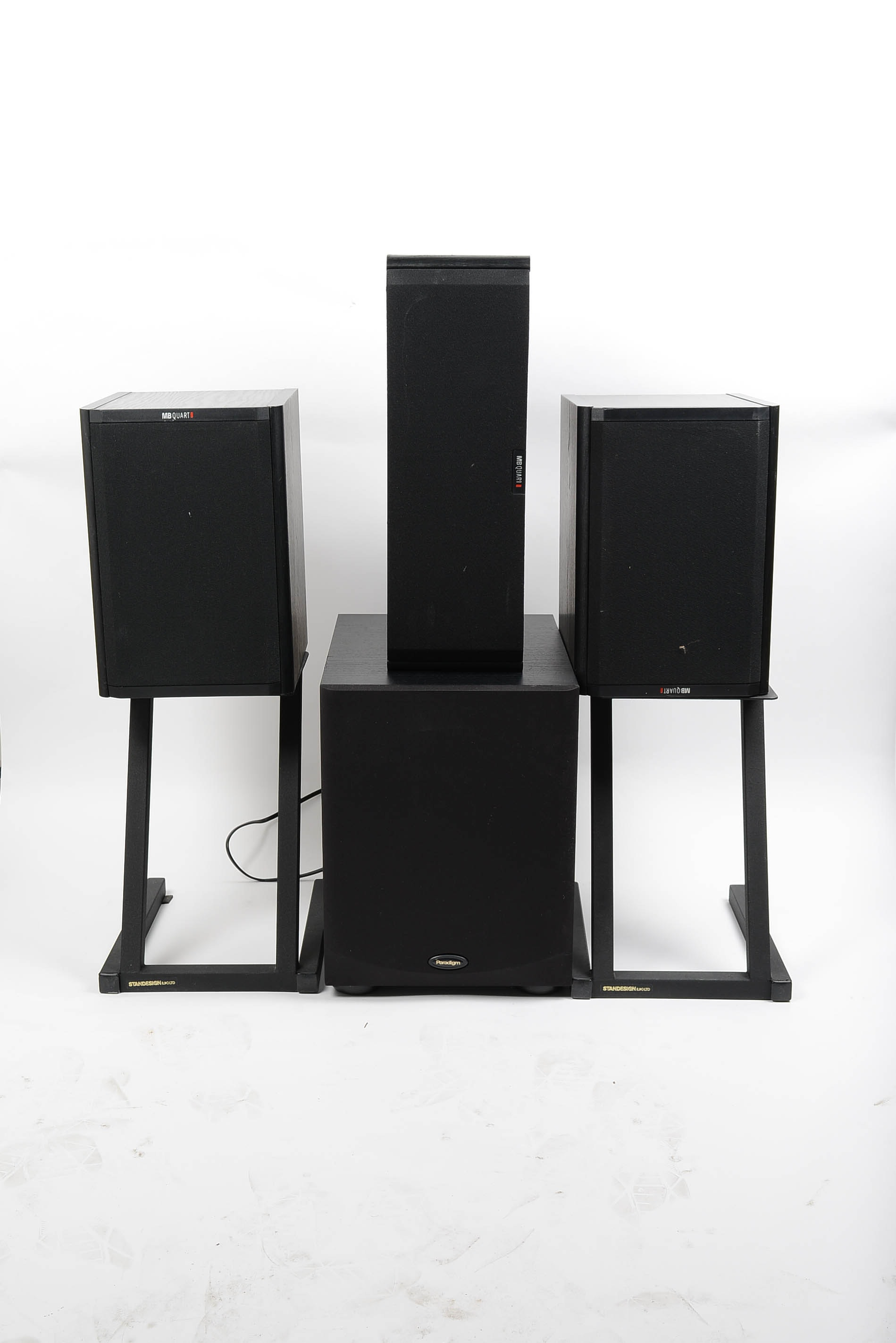 MB Quart Speakers and Paradigm Subwoofer