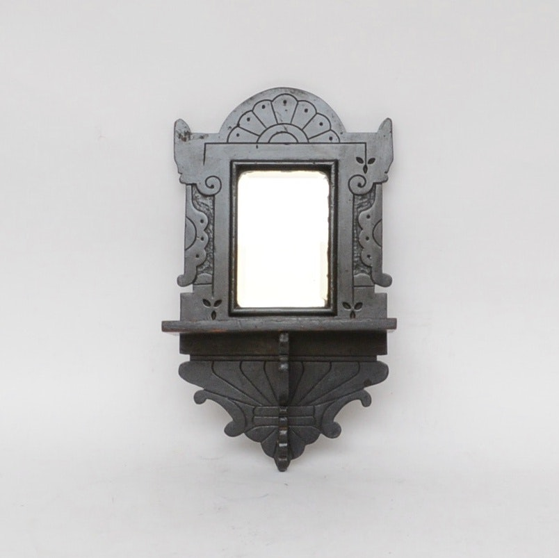 Eastlake Style Mirrored Wall Shelf