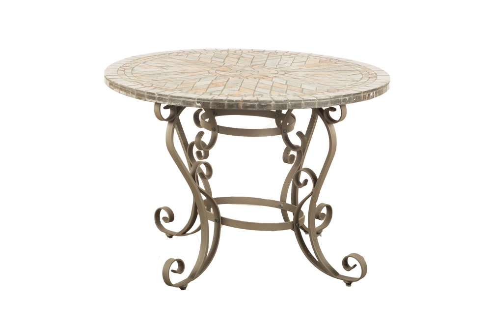 Mosaic Top Patio Table