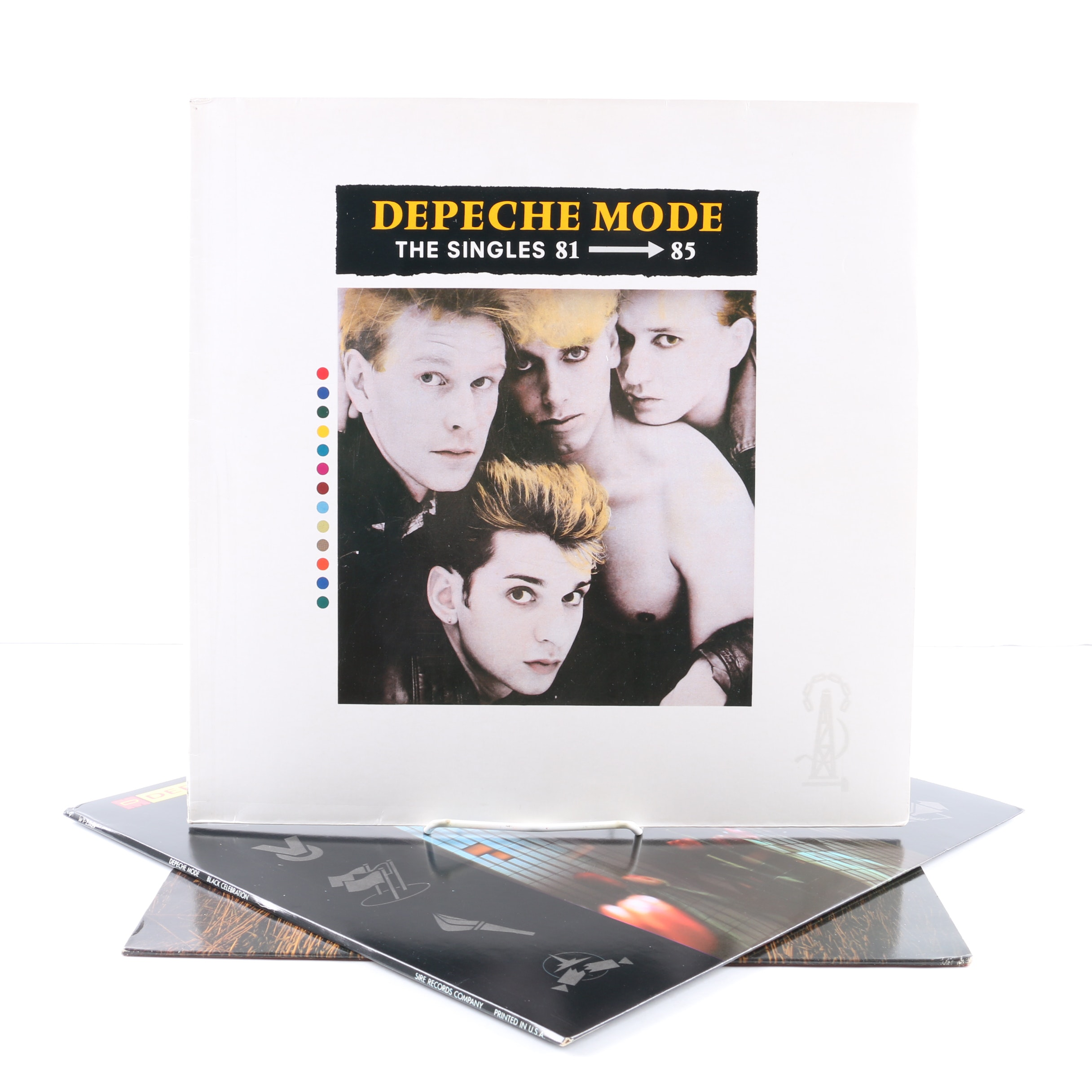 "Depeche Mode LP Records Including ""The Singles 81-85"" on Grey Wax"
