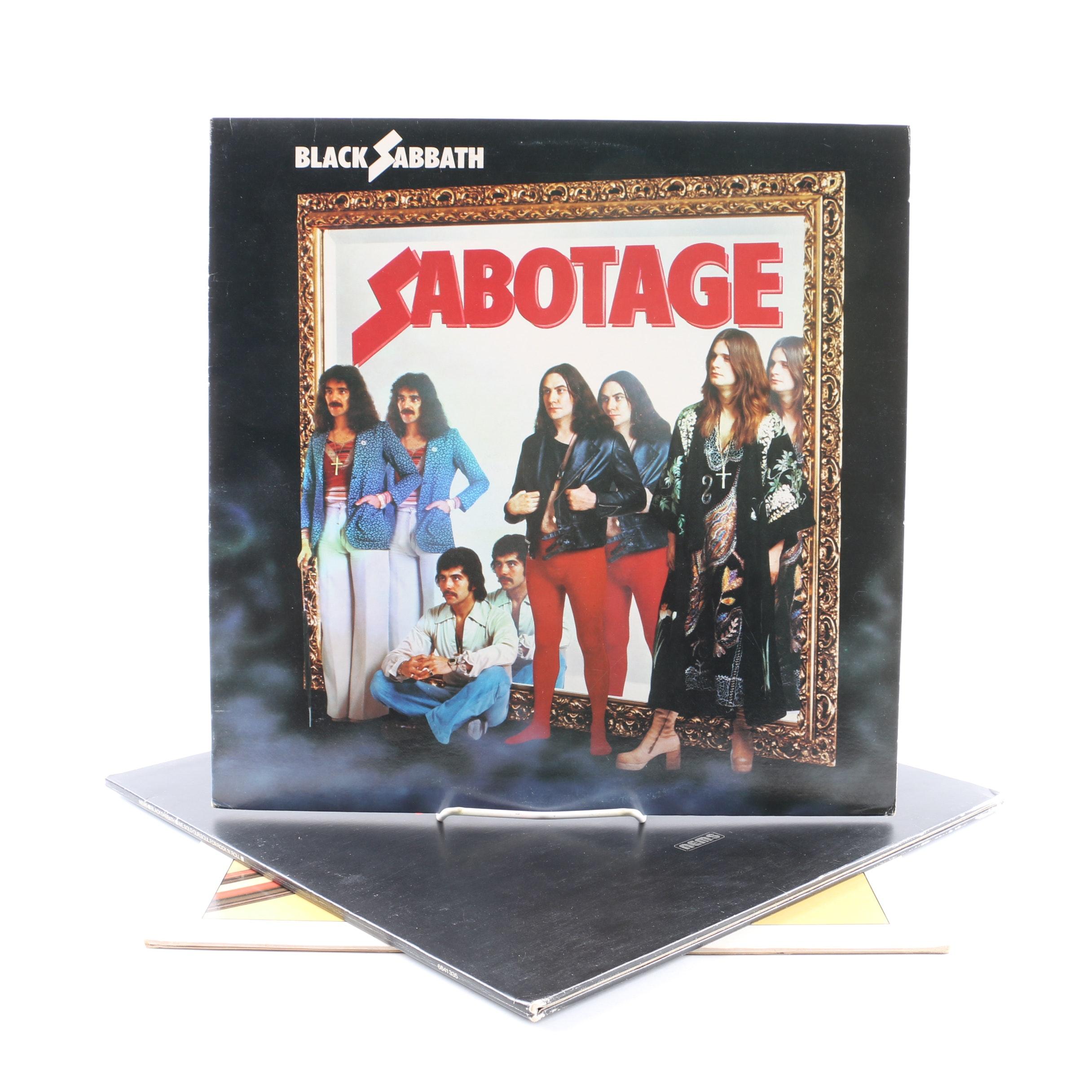 "Black Sabbath LPs Including ""Sabotage"" and ""Technical Ecstasy"""