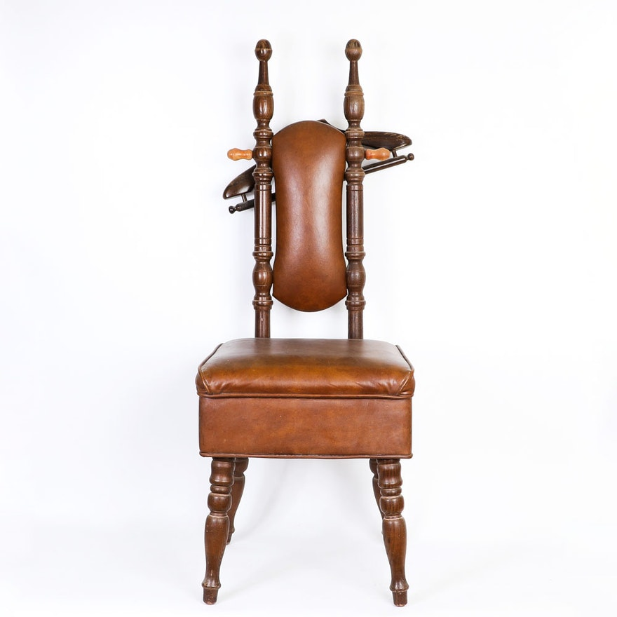 Vintage Padded Valet Chair ... - Vintage Padded Valet Chair : EBTH