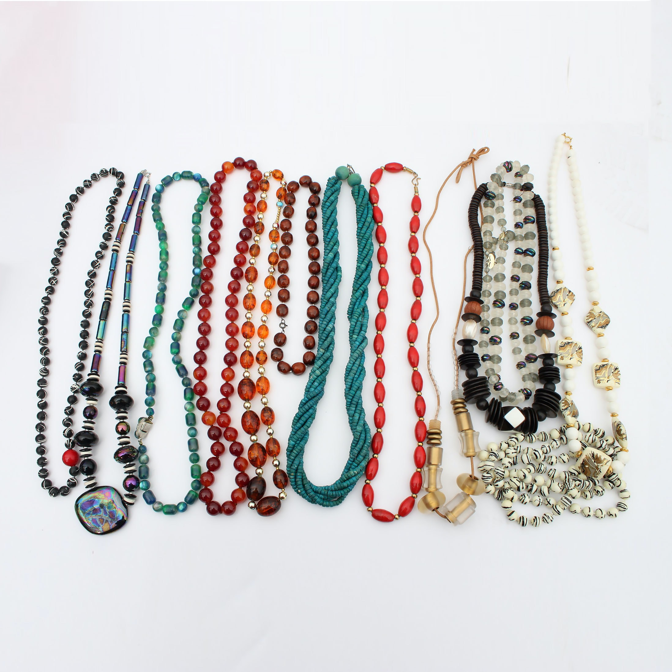 Vintage Beaded Costume Necklaces