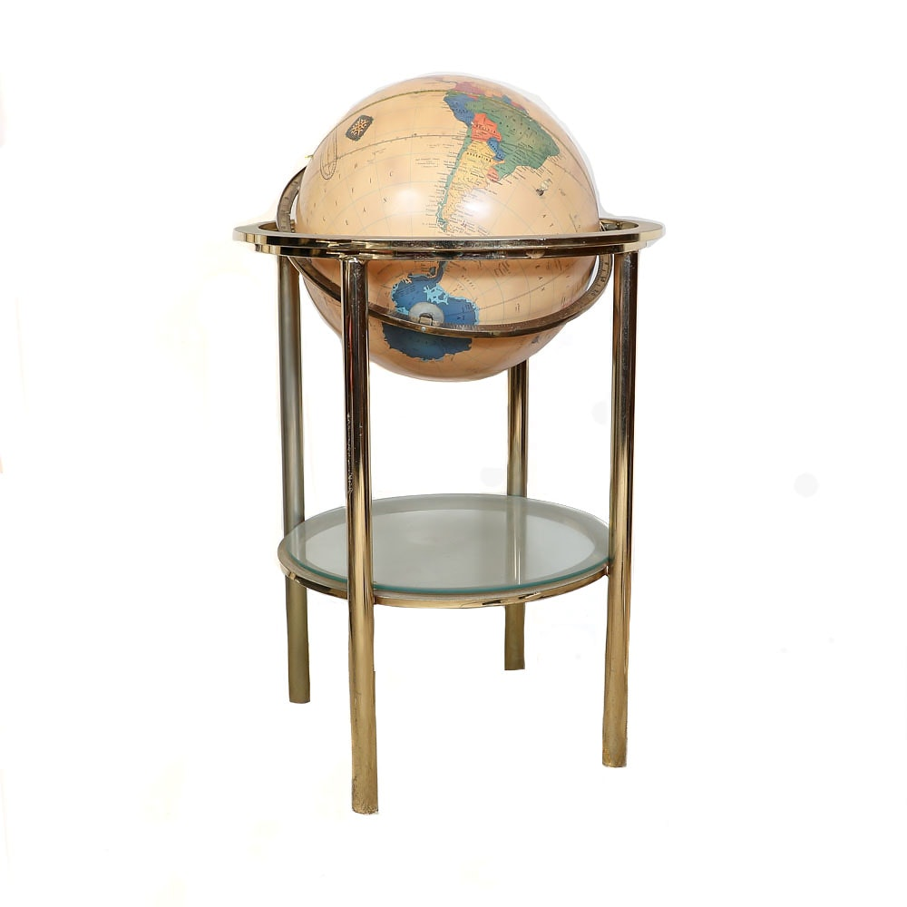 Cram's Antique World Globe with Floor Stand