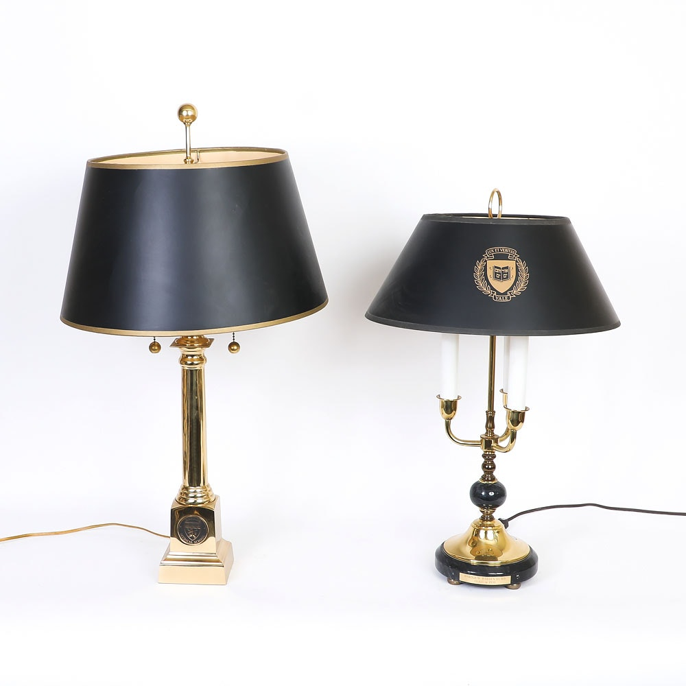 Harvard and Yale University Table Lamps