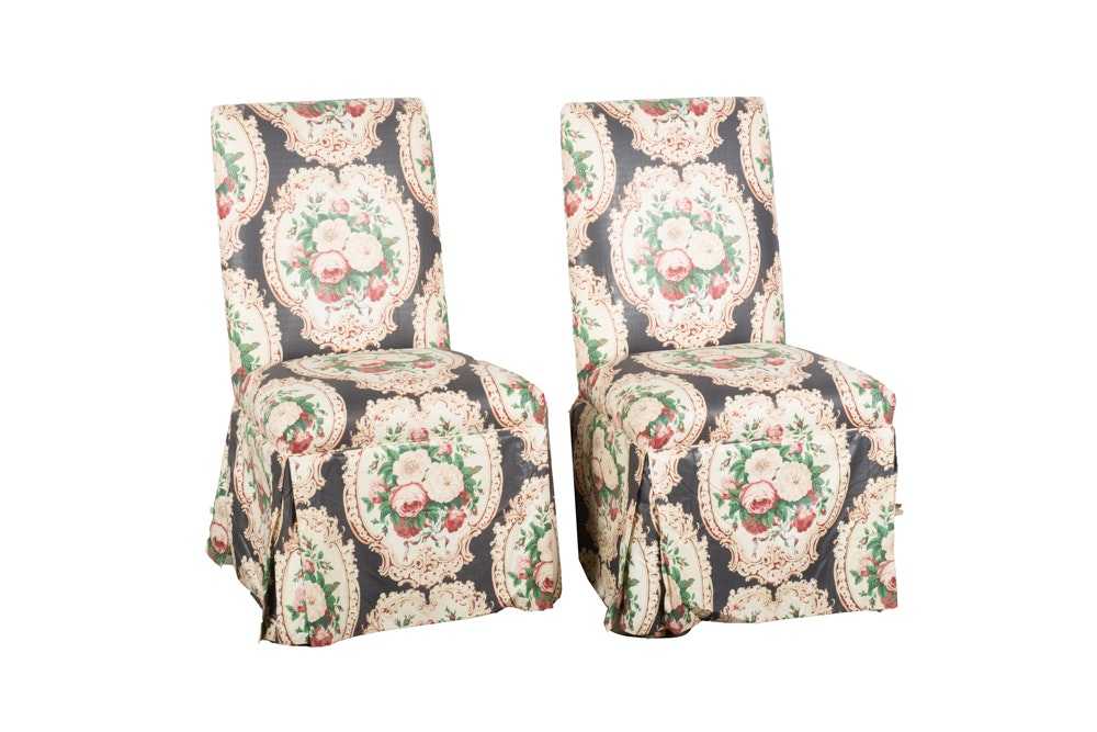 Armless Upholstered Chairs by Edward Ferrell