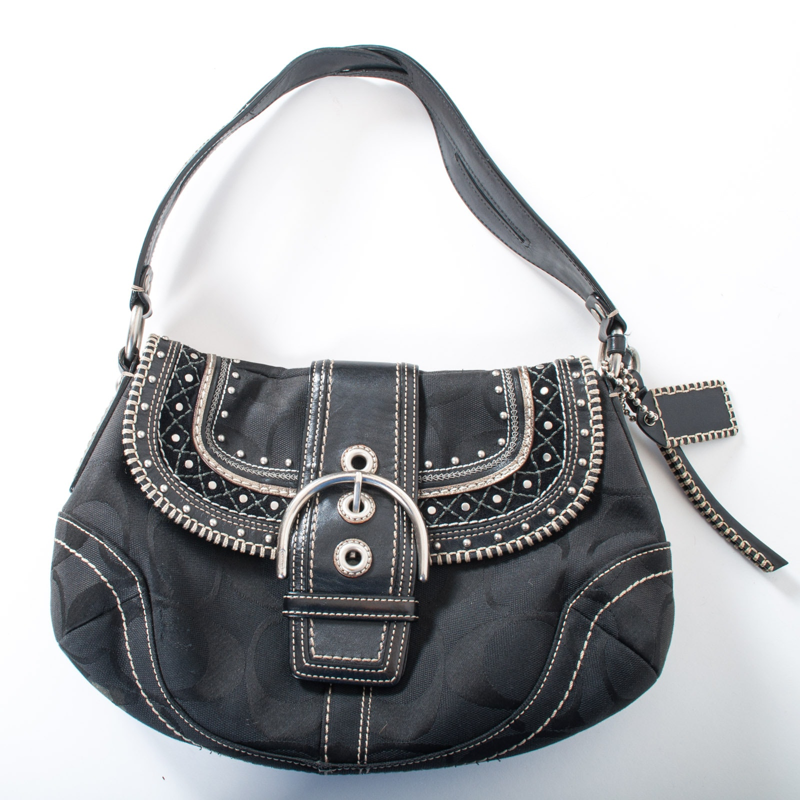 Coach Soho Black Hobo Purse
