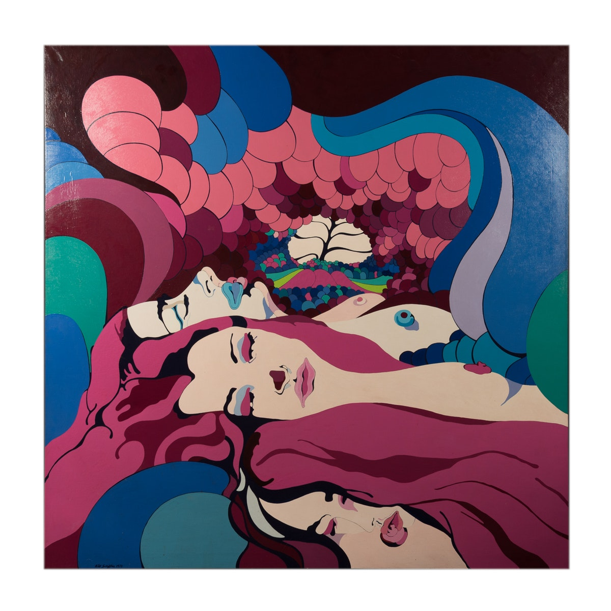 "Bill Schiffer Acrylic Painting ""Womb"""