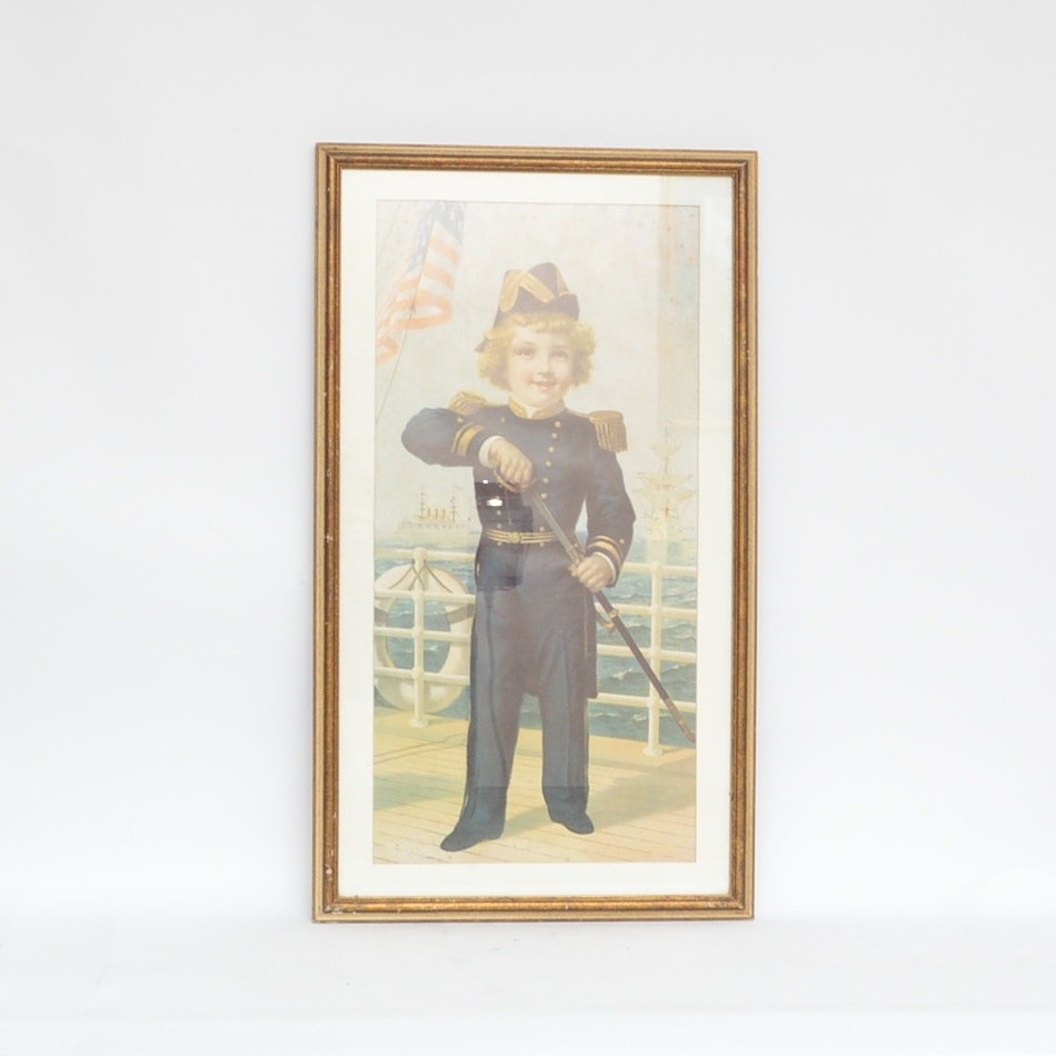 Early United States Navy Framed Print