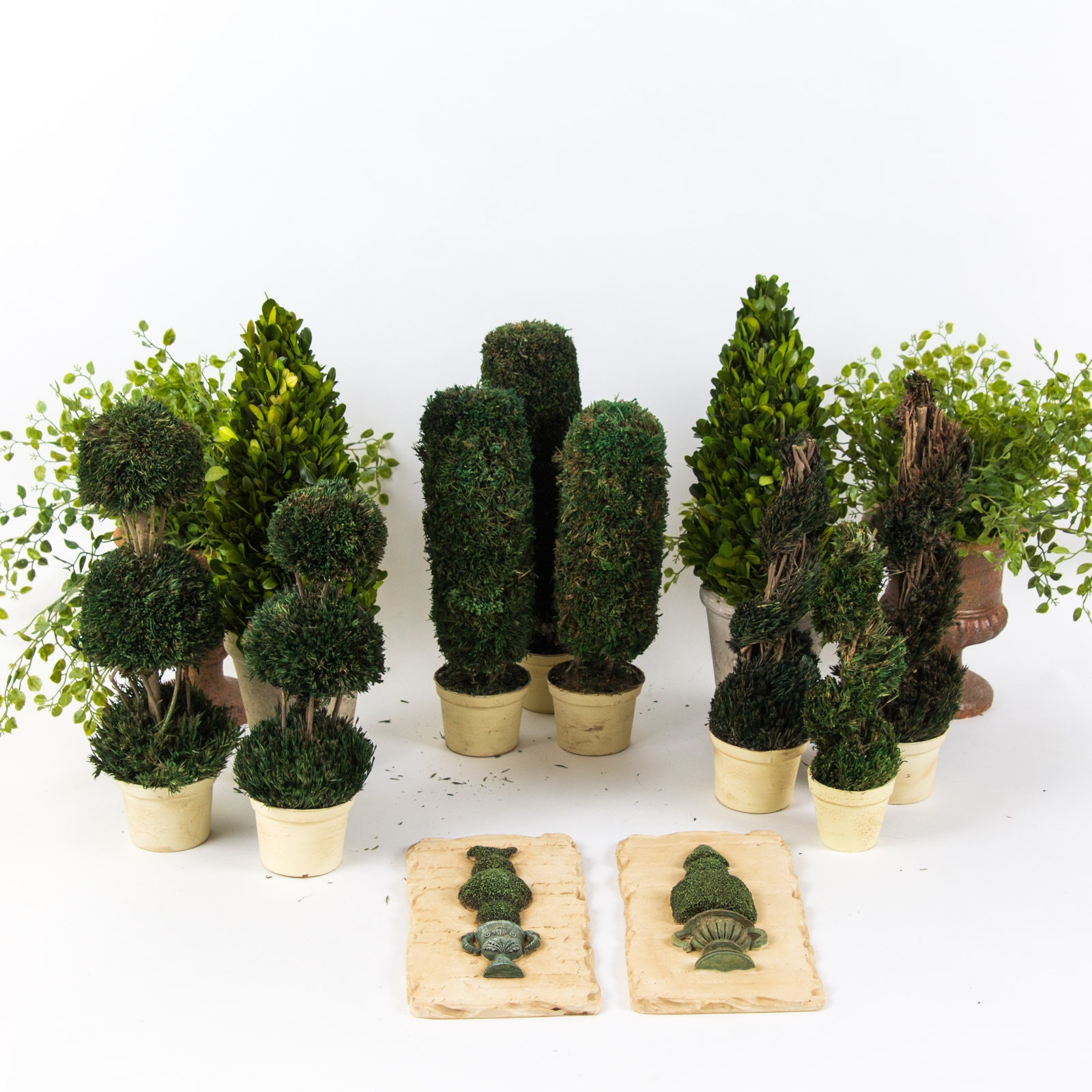 Assortment of Artificial Plants and Plant Themed Decor