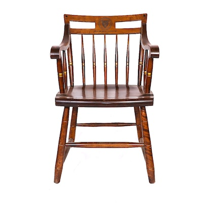 Wooden Harvard Medical School Chair - Vintage Chairs, Antique Chairs And Retro Chairs Auction In Jewelry