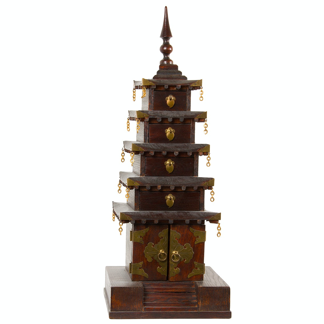 Pagoda Wooden Jewelry Box