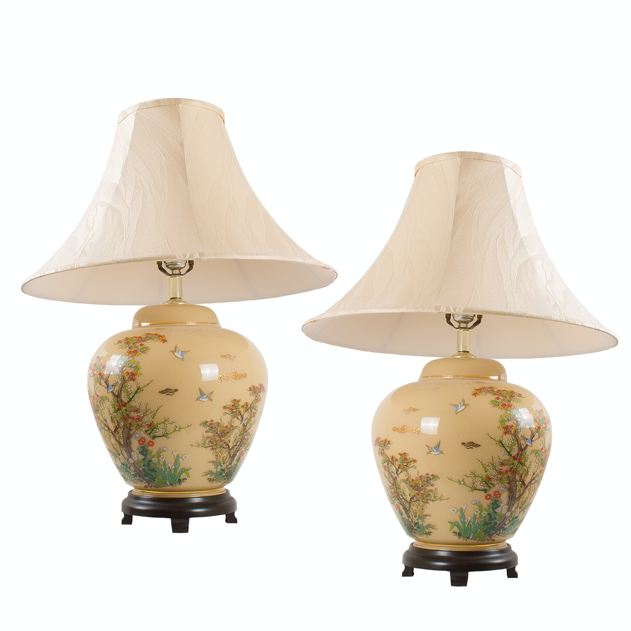 Glass Ginger Jar Lamps
