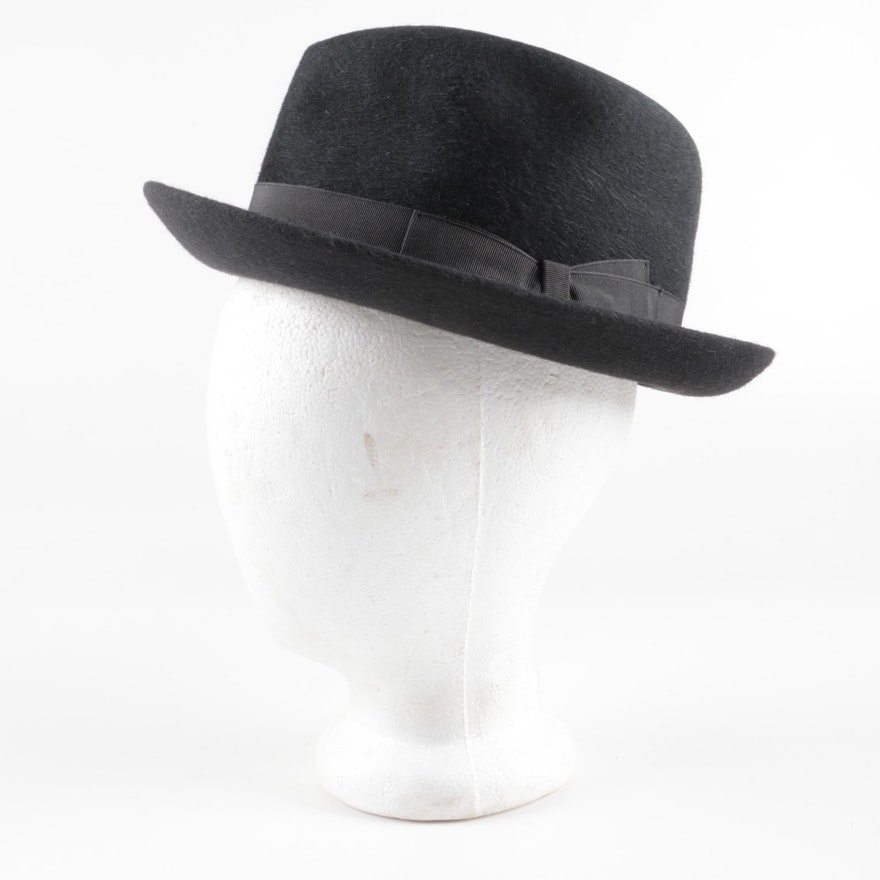 185db4917ab23 Borsalino Beaver Felt Fedora Hat   EBTH
