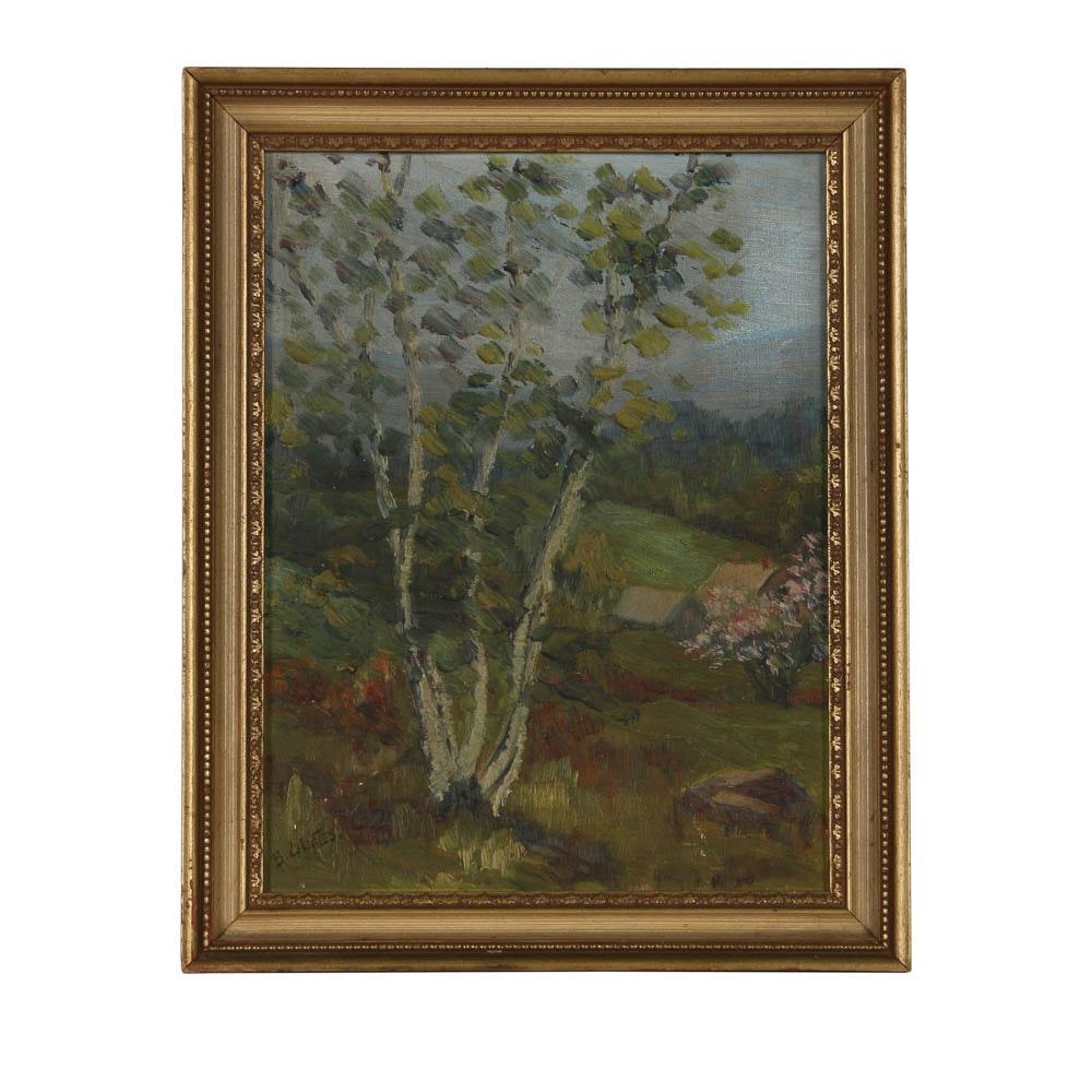 B.C. Bates Mid 20th-Century Oil Painting