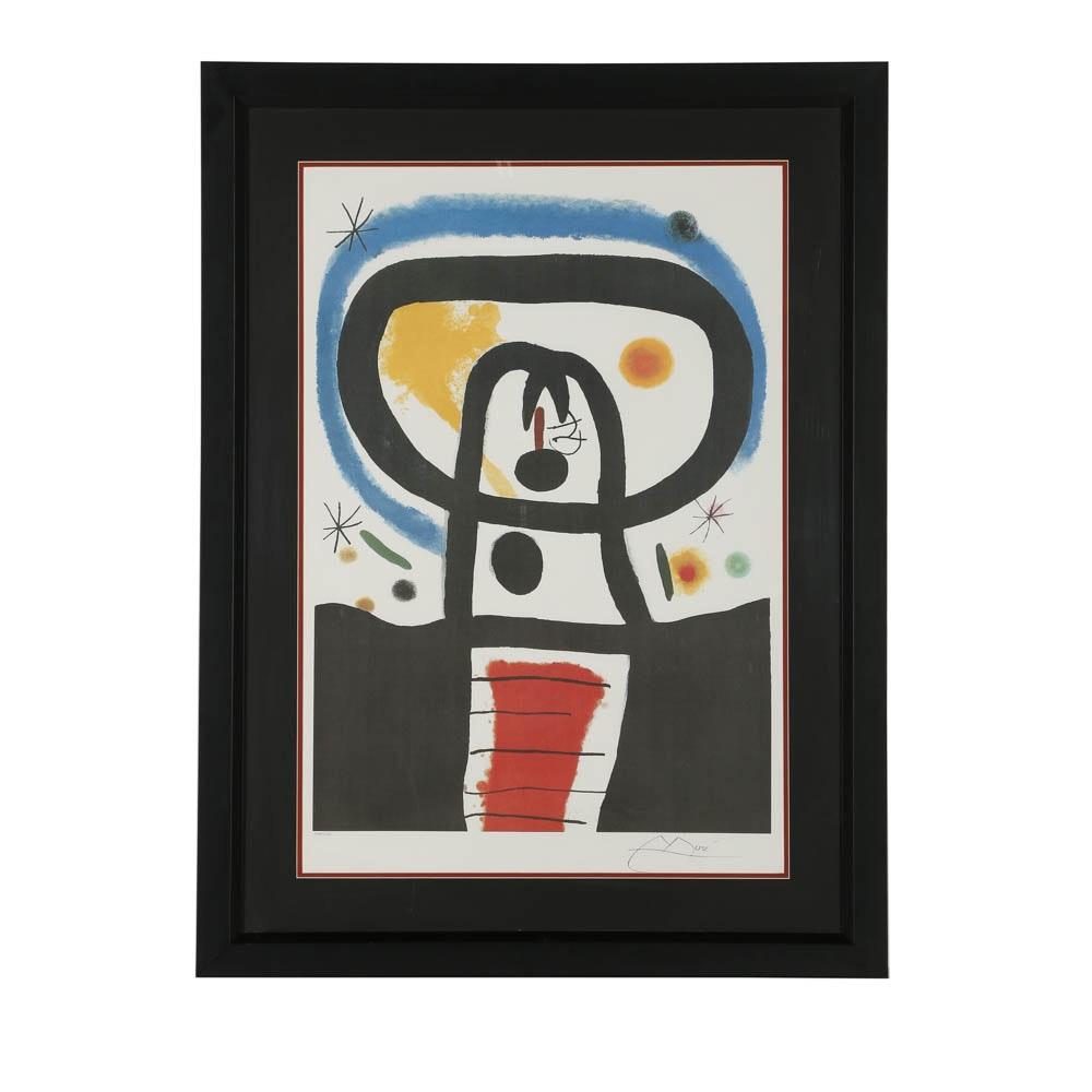 """Offset Lithograph After Joan Miro """"Equinox"""""""