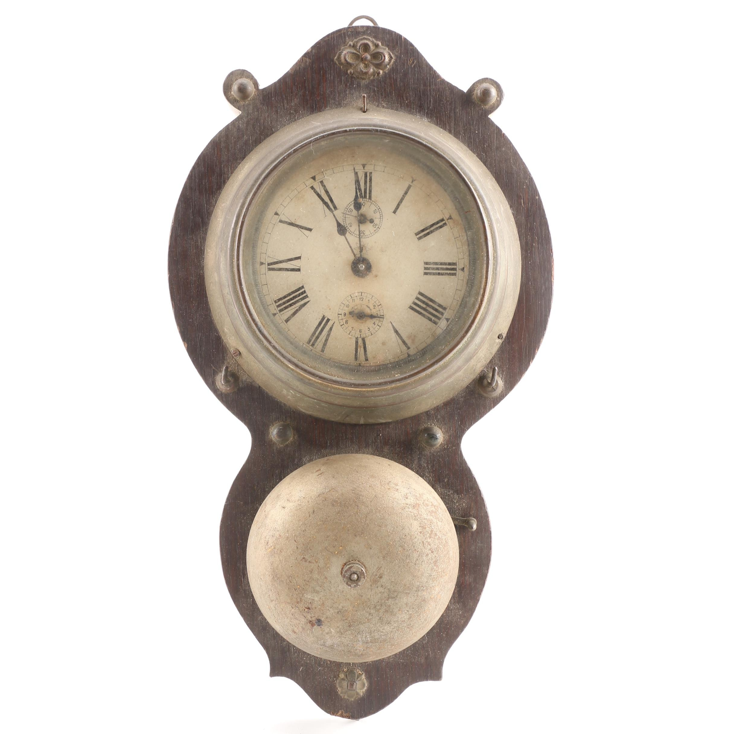 Antique Junghans Ship's Bell Wall Clock