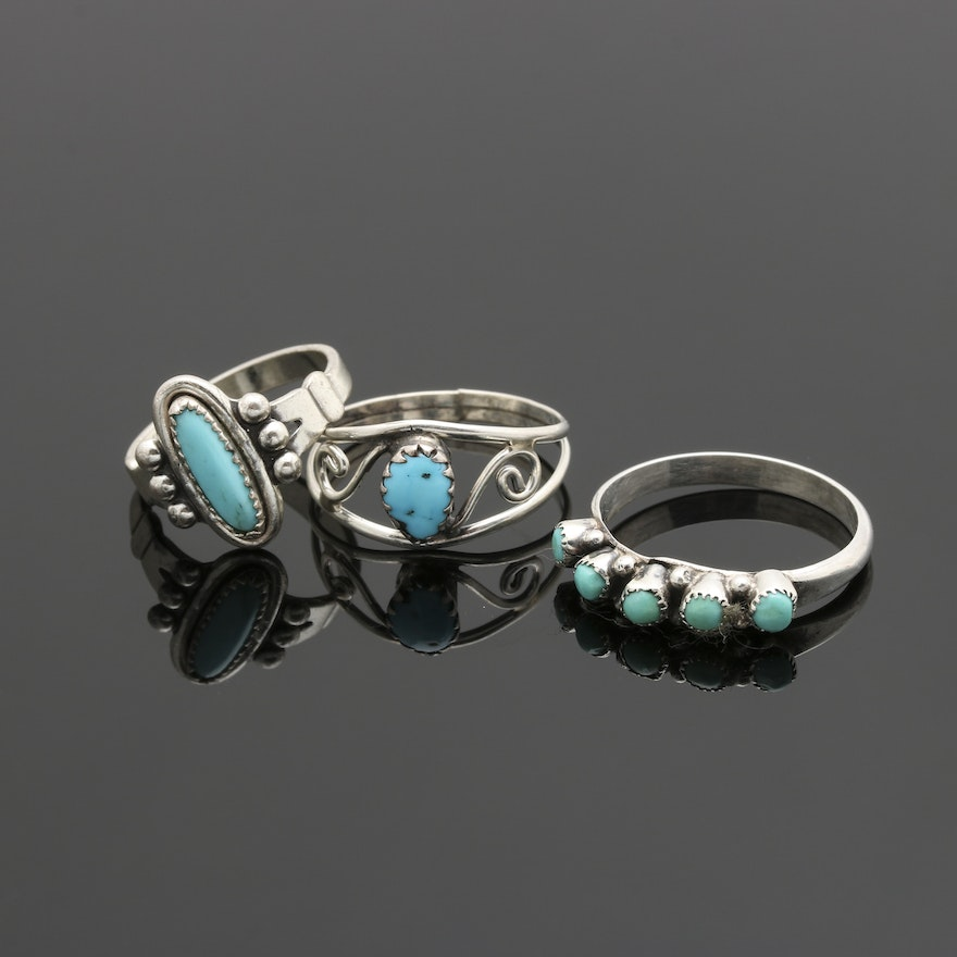 ring index rings real set turquoise claw silver