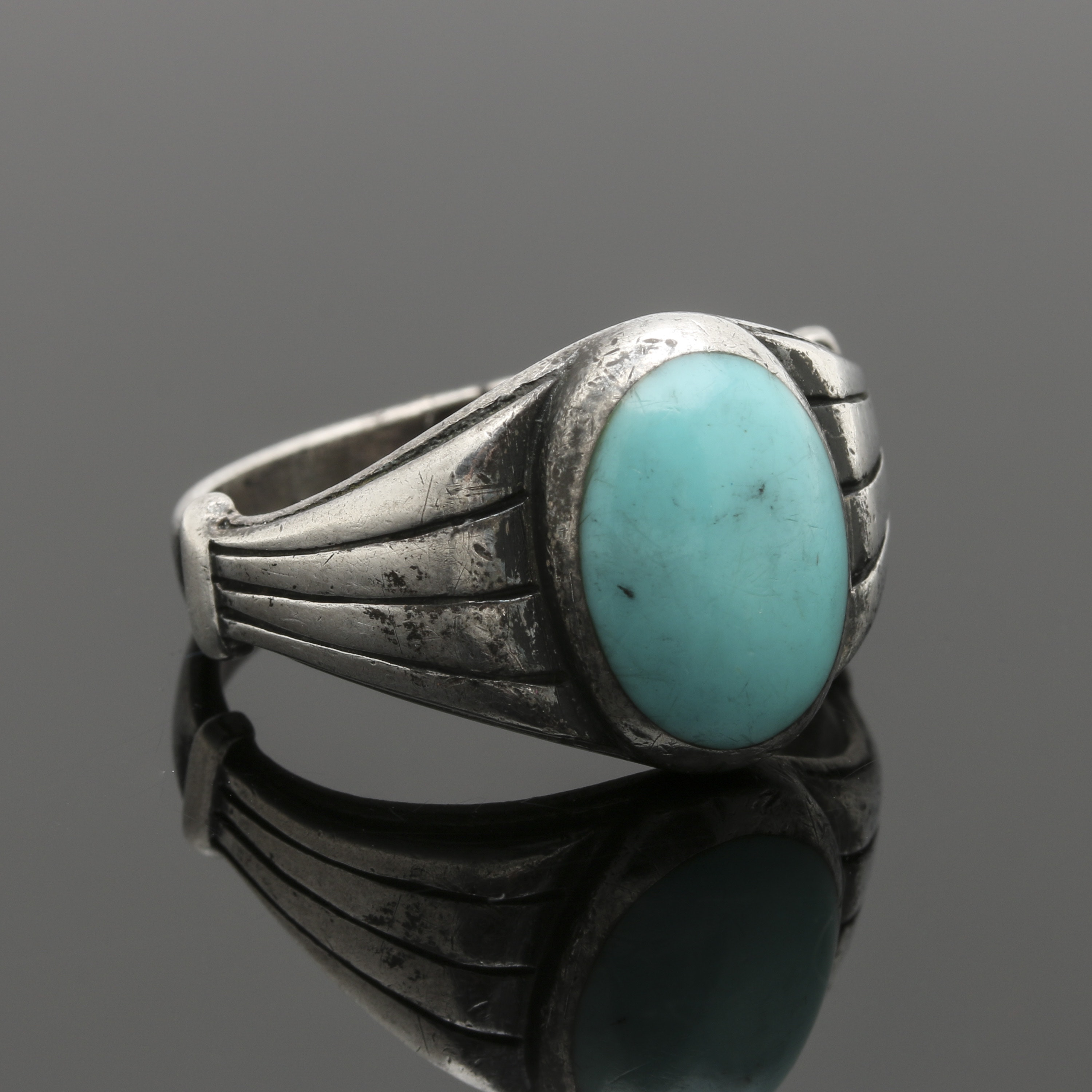 Silver Cloud Sterling Silver Turquoise Ring
