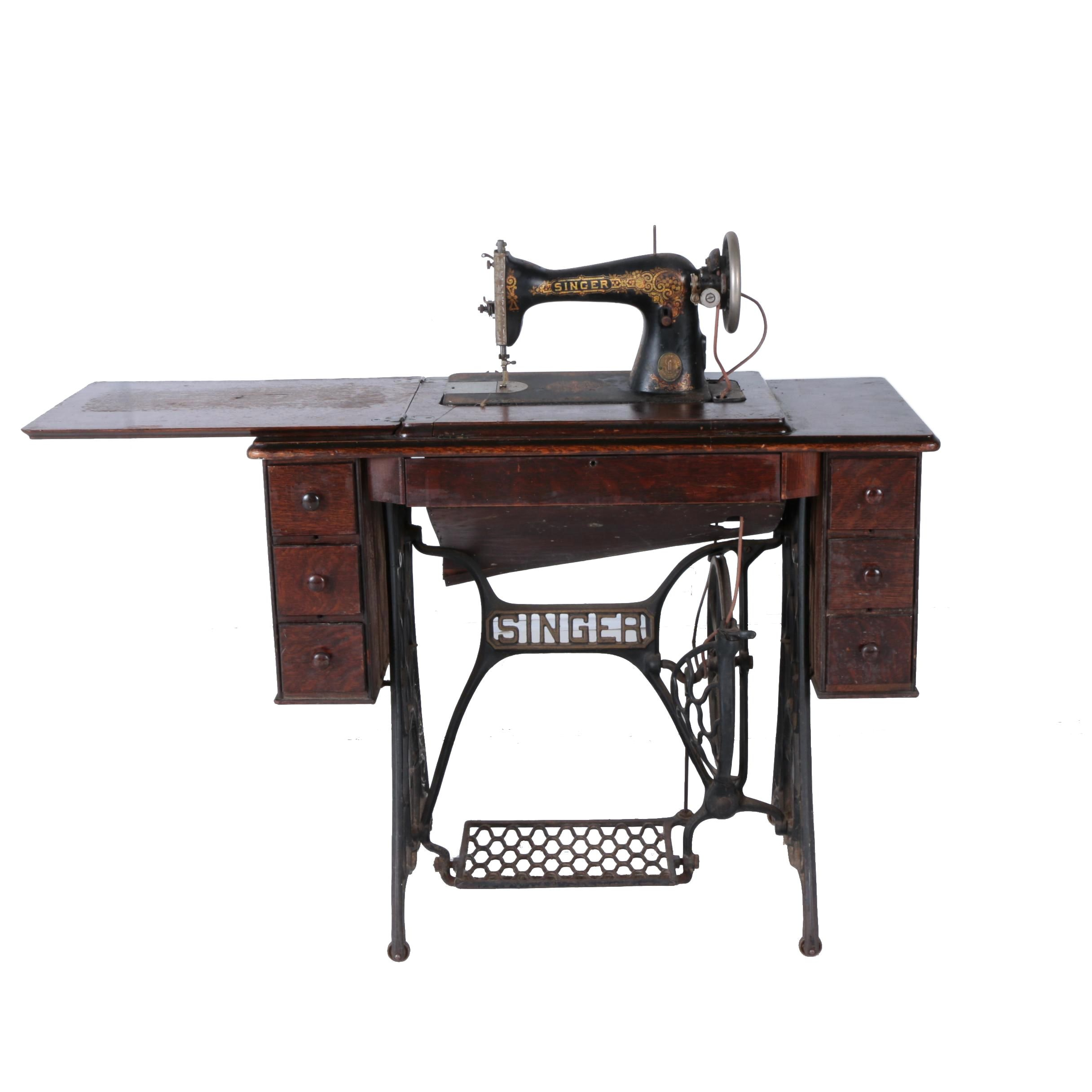 Antique Singer Treadle Sewing Table