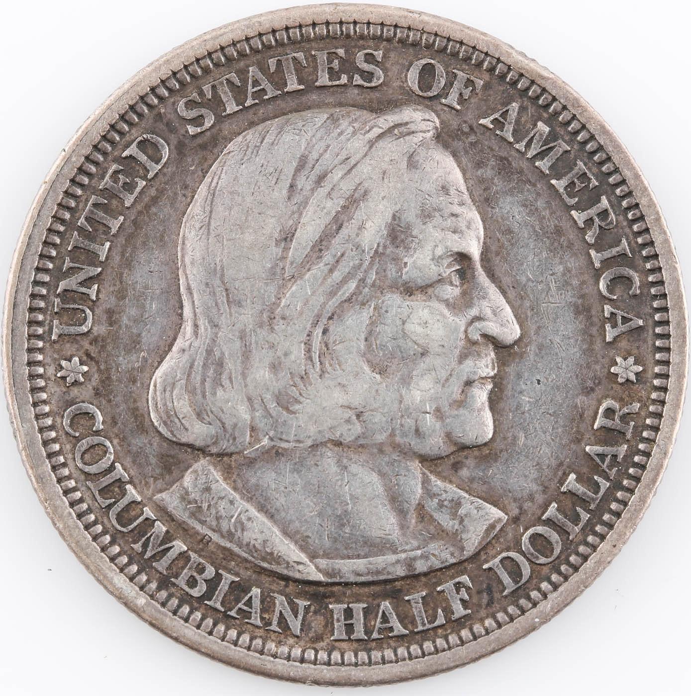 1893 Columbian Exposition Silver Half Dollar Commemorative Coin