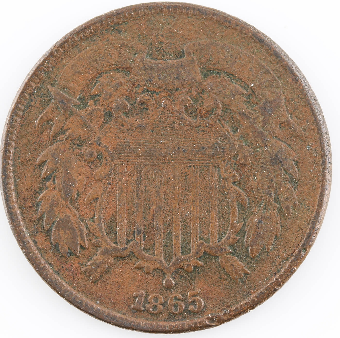 1865 Two Cent Coin