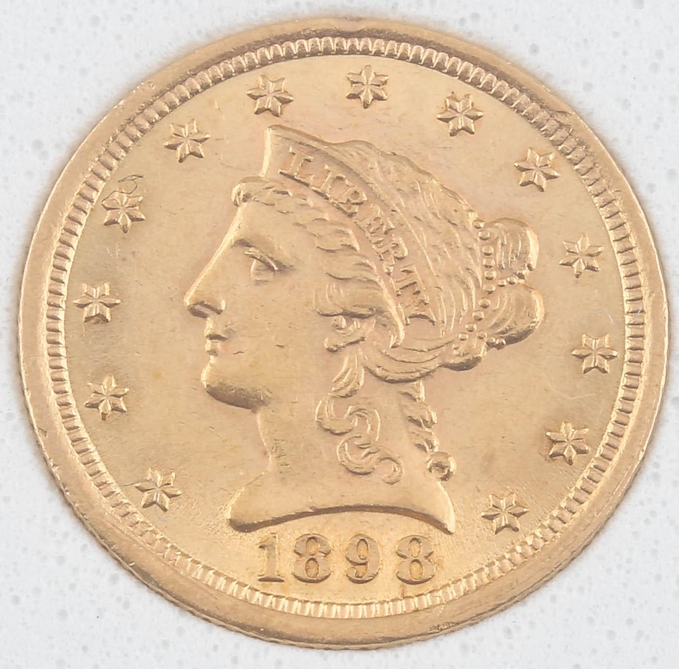 1898 Liberty Head $2 1/2 Gold Coin